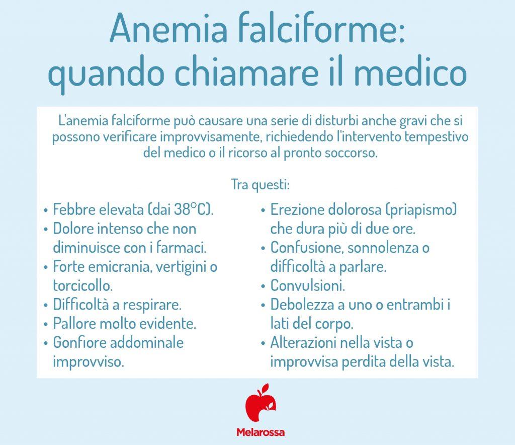 anemia falciforme quando chiamare il medico