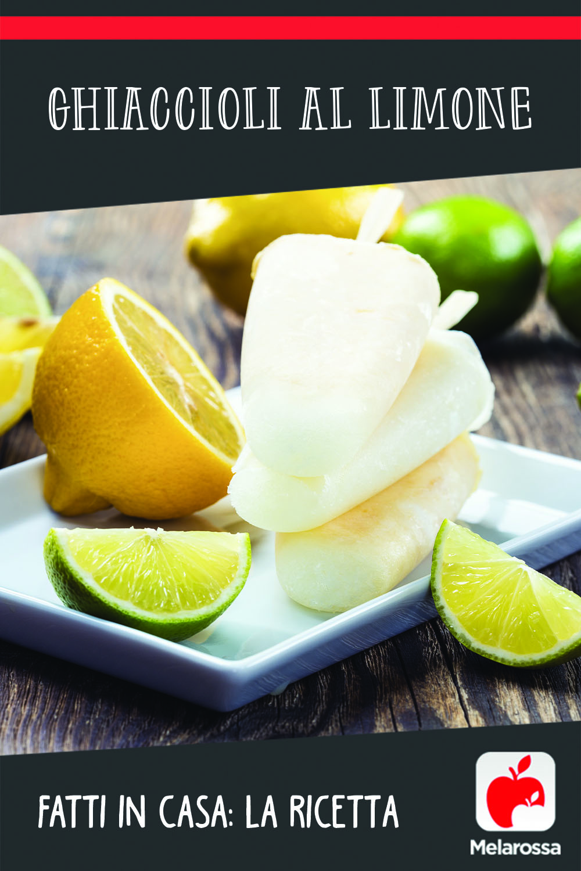 ghiaccioli al limone fatti in casa