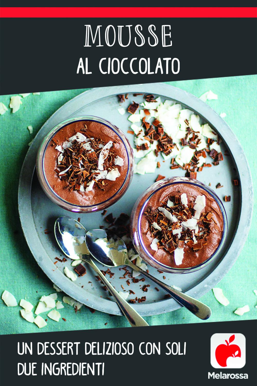 Mousse al cioccolato: un dessert delizioso con due ingredienti