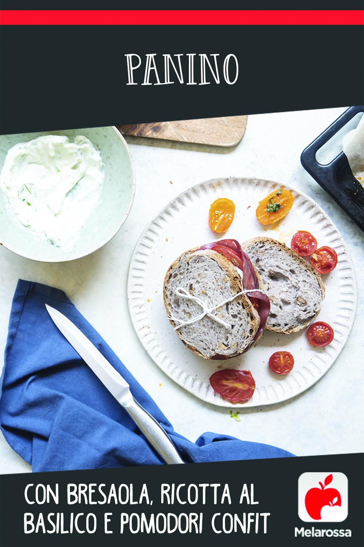 panino con bresaola ricotta e pomodori