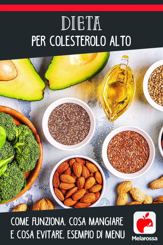 Dieta per colesterolo alto: come funziona, cosa mangiare e cosa evitare, esempio di menu