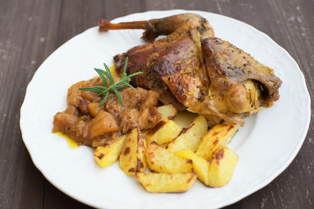 faraona al forno, delicata e appetitosa