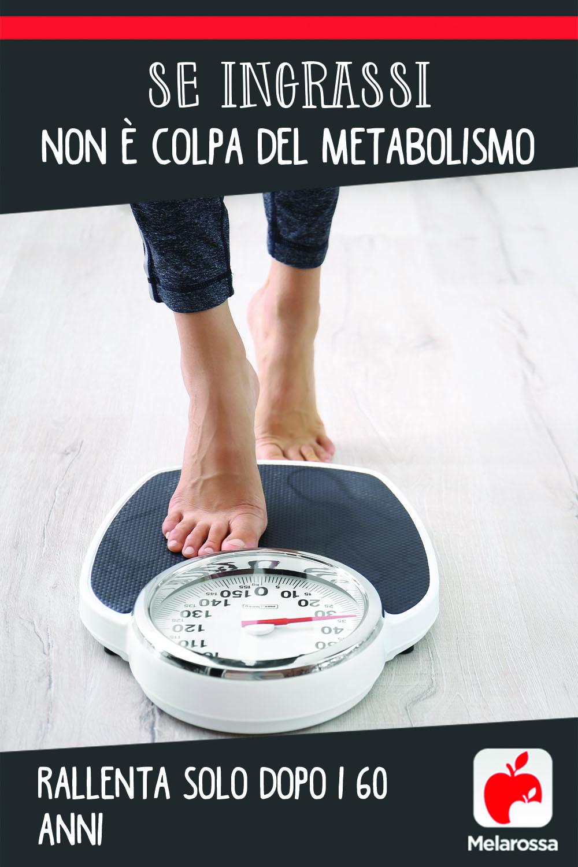 Se ingrassi non è colpa del metabolismo: rallenta solo dopo i 60 anni
