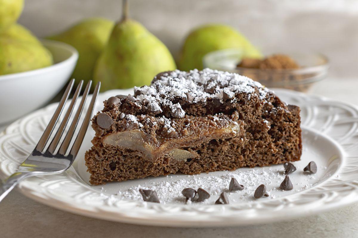 torta cioccolato e pere, preparala col Bimby