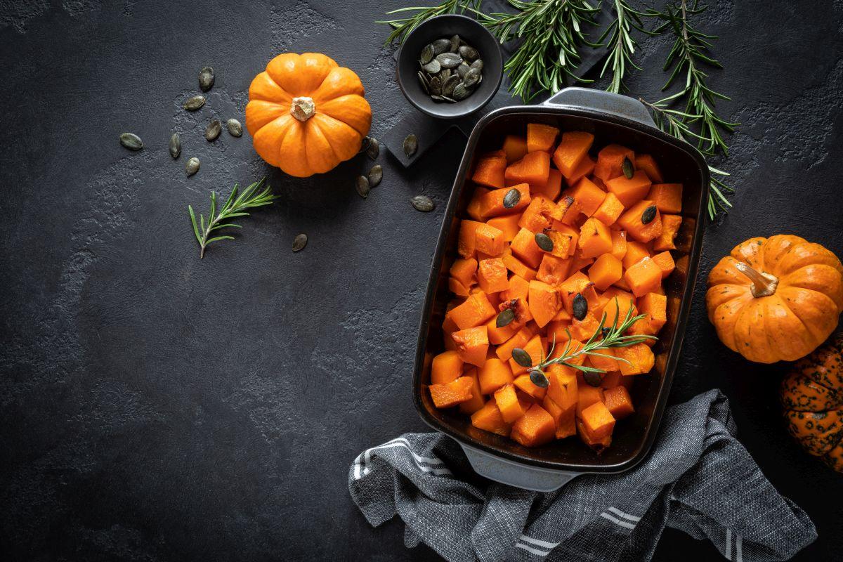 zucca al forno, versatile e leggera