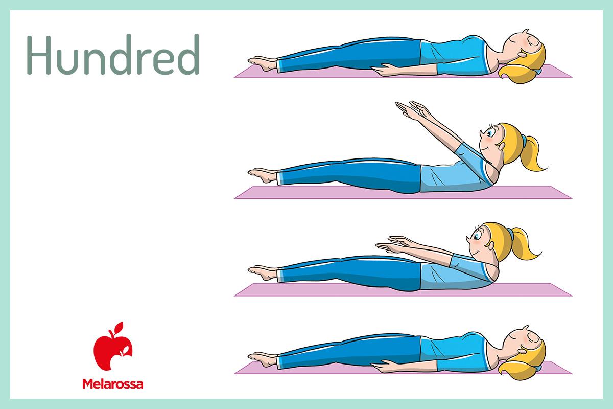allenamento pilates a casa: hundred