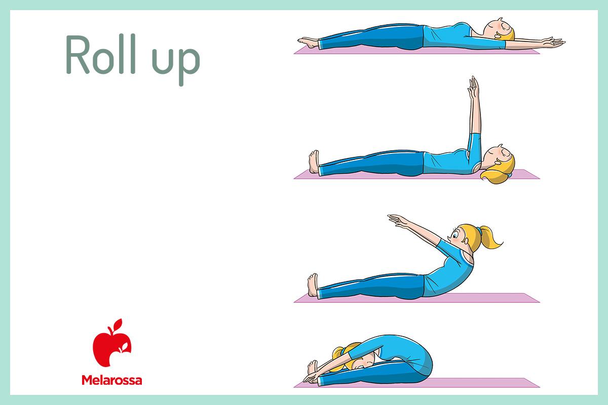 esercizi pilates roll up
