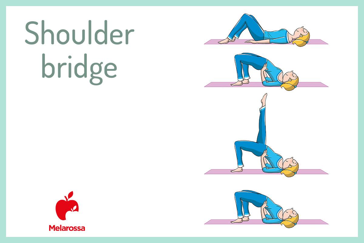 pilates a casa: shoulder bridge