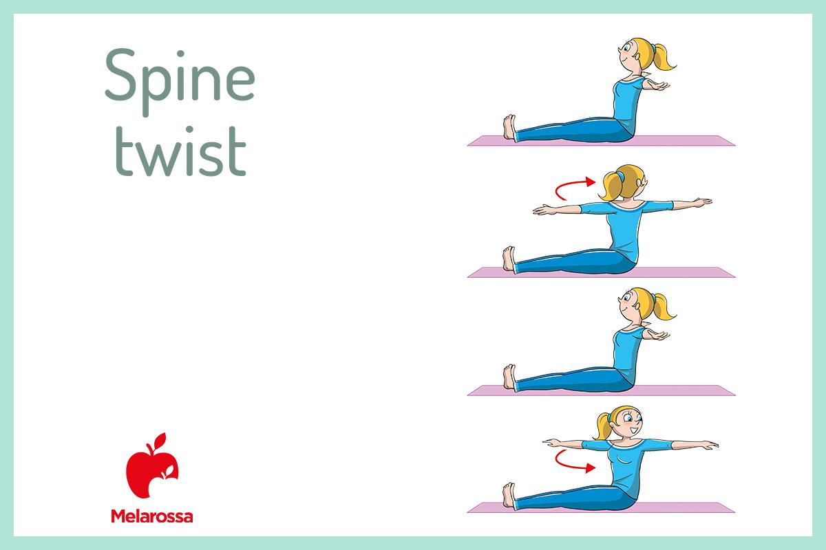 pilates a casa: spine twist